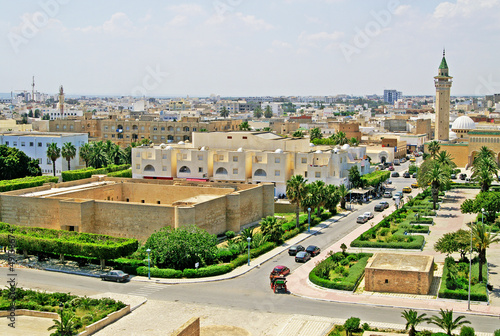 Staande foto Tunesië Overview of Monastir from the ribat, Monastir, Tunisia