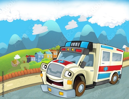 Poster Cars The emergency unit - the ambulance