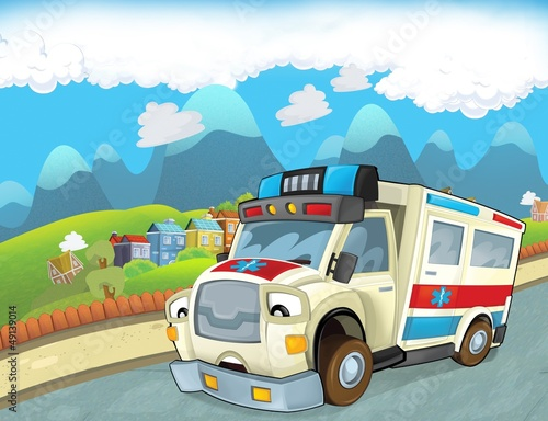 Recess Fitting Cars The emergency unit - the ambulance