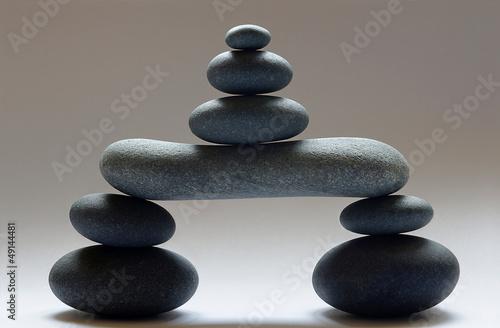 Doppelrollo mit Motiv - Zen Steinturm freigestellt (von Fotoschlick)