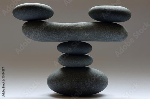 Plissee mit Motiv - Zen Steinturm freigestellt