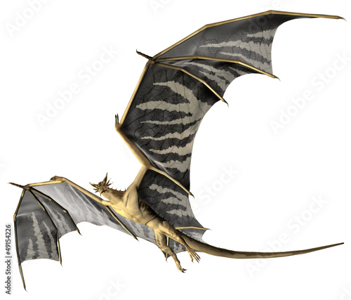 Fotobehang Draken Flying Dragon - Computer Artwork