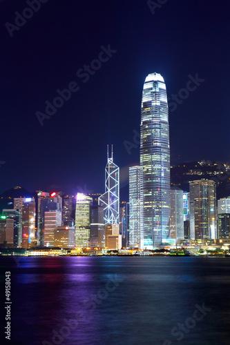 Fototapety, obrazy: Hong Kong city at night