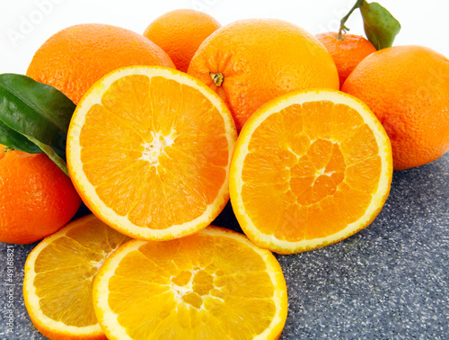 Photo Stands Slices of fruit Frische Apfelsinen
