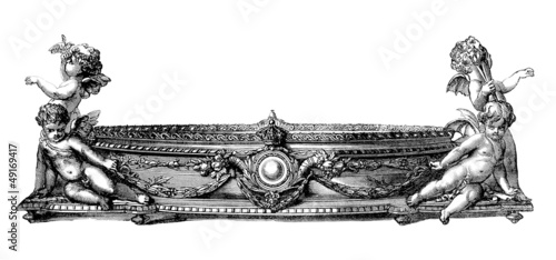 Stampa su Tela Silversmith's Masterpiece - Table Deco - 19th century