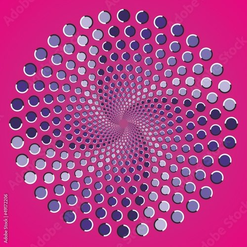 Wall Murals Psychedelic Optical illusion ellipse color points