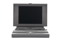 Laptop Retro Viewed From The Front