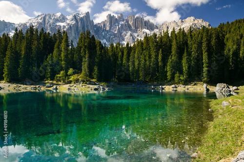 Lago di Carezza, Italia Canvas Print