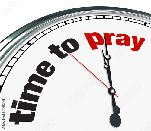Time to Pray - Clock Fototapeta