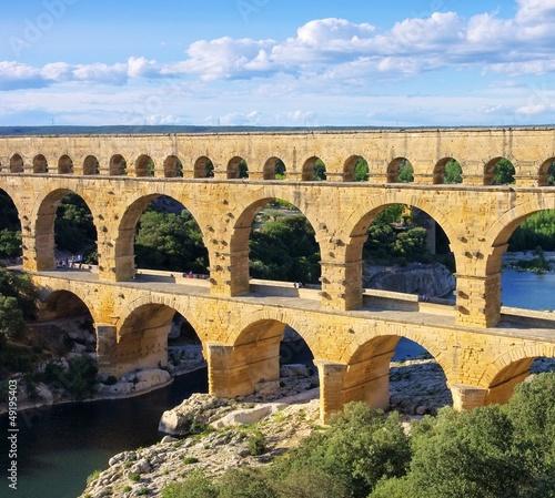 Spoed Foto op Canvas Artistiek mon. Pont du Gard 37