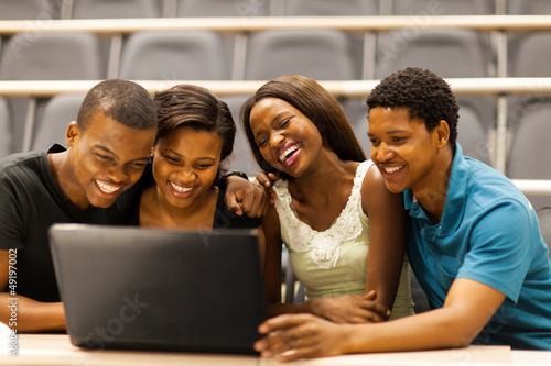Group Of African American College Students In Lecture Room