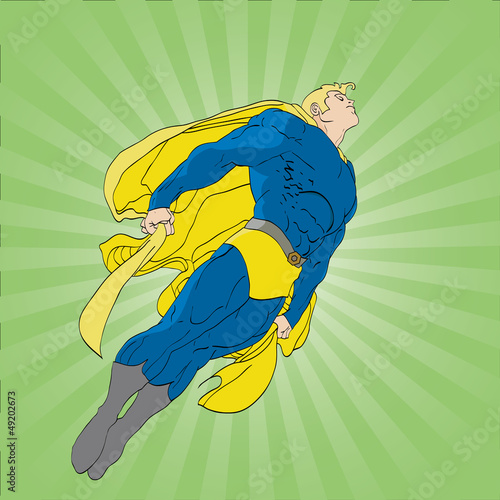 Floating Superhero