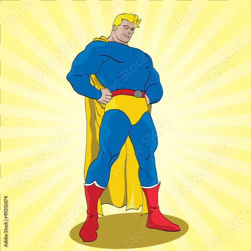 Door stickers Superheroes Posing Superhero