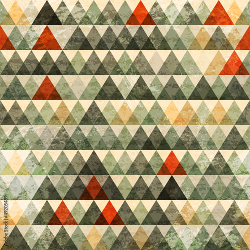 Photo  grunge triangle seamless pattern