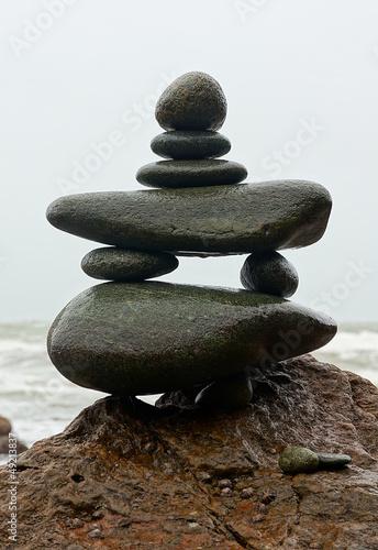 Doppelrollo mit Motiv - Zen Zeichen japanisch (von Fotoschlick)