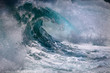 canvas print picture - Ocean wave