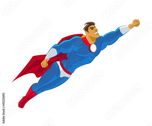 Poster Superheroes Superhero flying
