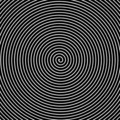 Naklejka Czarno-Biały Black and white hypnotic vector background