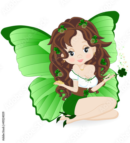 Stickers pour porte Fées, elfes magical fairy