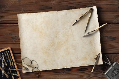 antique draftsman board Billede på lærred