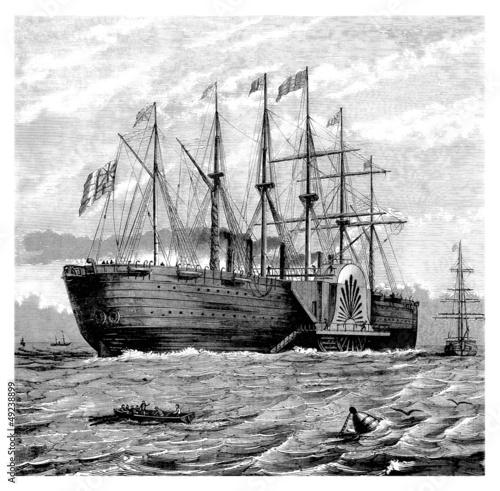 Beautiful Ship (middle19th century) : the Great Eastern Canvas Print