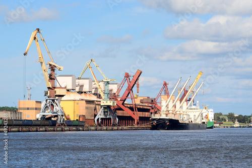 Foto op Canvas Rotterdam cargo port. Ventspils terminal, Latvia