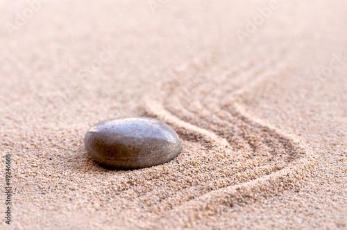 Photo sur Plexiglas Zen pierres a sable Galet, sable zen