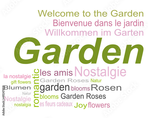 Garten Romantik Tag Cloud Wörter Buy This Stock Vector And Explore