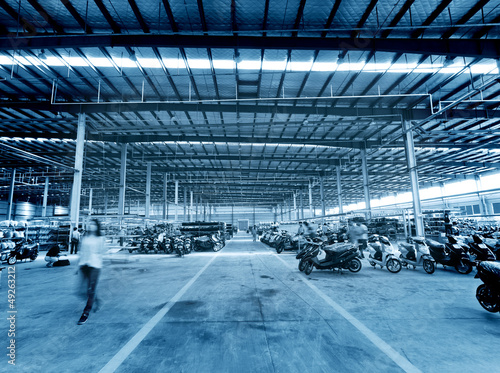 Busy factory floor