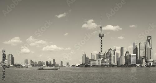 Lujiazui Finance&Trade Zone of Shanghai skyline at city landscap Canvas Print