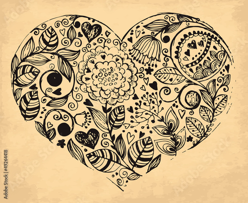 vector-hand-drawn-heart