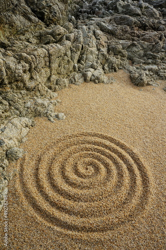 Doppelrollo mit Motiv - Unendlichkeit Zen Spirale (von Fotoschlick)