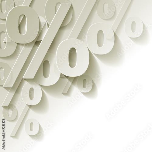 Cuadros en Lienzo % Prozent weiss Papier Ecke Hintrergrund