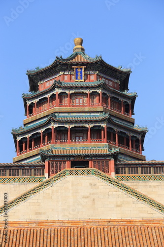 In de dag China main building of The Summer Palace of China