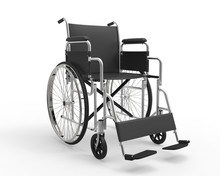 Wheelchair Isolated On White Background