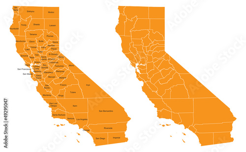 Photo California County Map