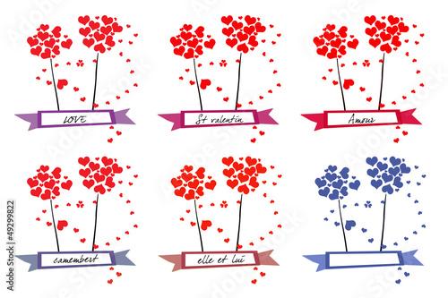 Valokuva  fleur et banderole