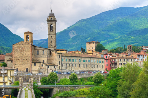 Panoramic view of Bobbio. Emilia-Romagna. Italy. Wallpaper Mural