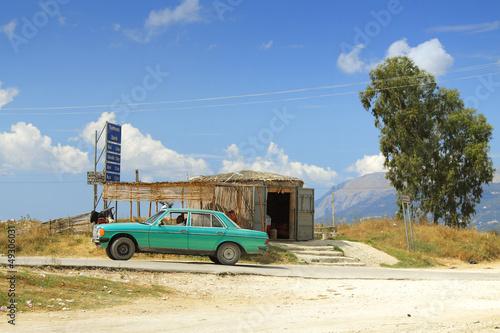 Fotografie, Obraz  Albania, Straw Built Stall