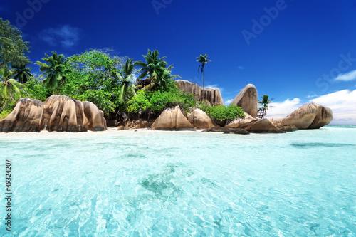 Fotografie, Obraz  Anse Source d'Argent beach, La Digue island, Seyshelles