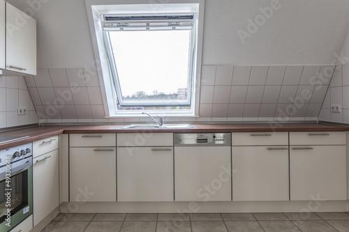 Küche Neubau   Kuche Einbaukuche Neubau Dachwohnung Buy This Stock Photo And