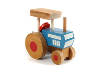 Old Wooden Tractor Toy