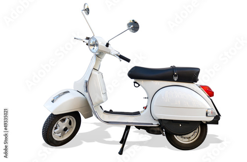 Scooter Italien Roller mit Freistellpfad Scooter with Clipping Path
