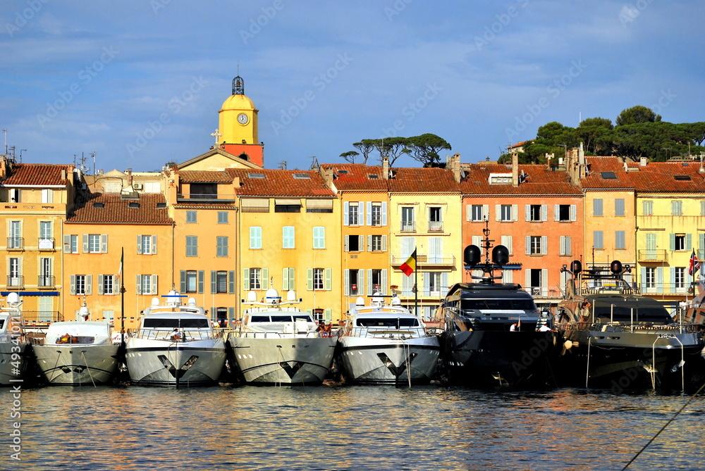 Photo Art Print Saint Tropez Port And Yachts Europosters