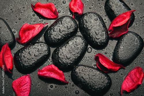 tlo-spa-czarne-kamienie-i-czerwone-platki-z-kropelkami-wody