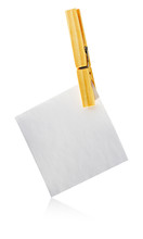 Blank Notelet Hanging From A C...