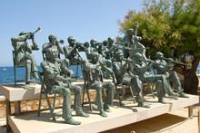 Orchestre En Statue De Bronze ...