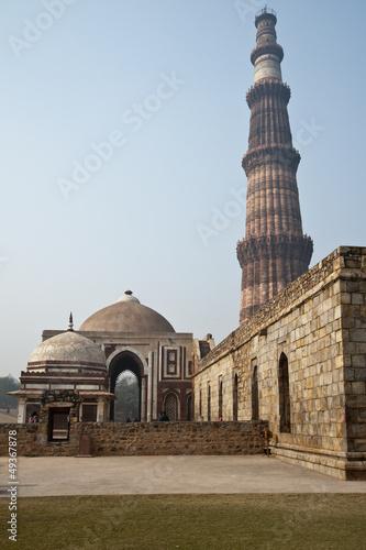Fotobehang Delhi Qutub Minar, New Delhi, India