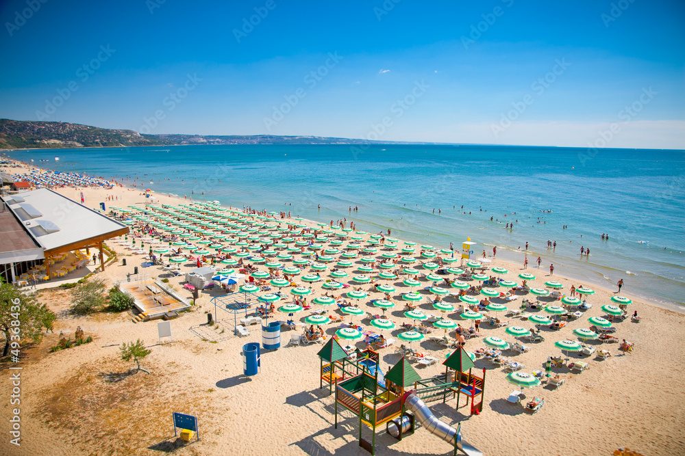 Fototapety, obrazy: Panoramic view of Golden Sands beach, Bulgaria.