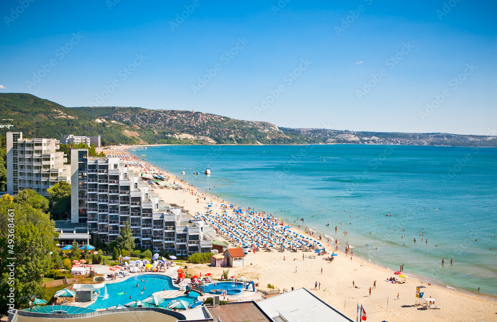 Fototapety, obrazy: Panoramic view of Golden Sands beach in Bulgaria.